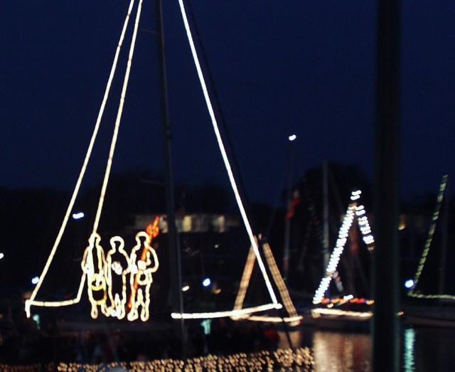 Impressionen der Lampionfahrt im Hafen