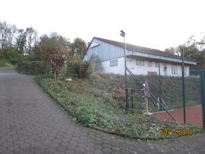 Vereinsheim nach Grünschnitt-Aktion