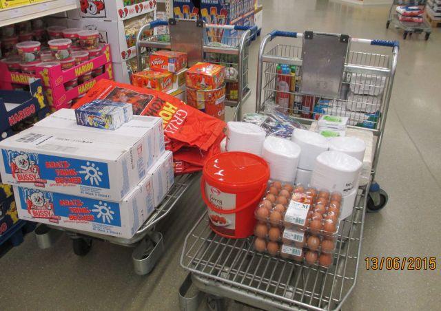 Einkauf für das Sommerfest